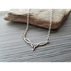 Handmade Silver Celtic Knot Symbol Necklace