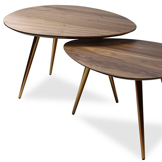 Buy Mid-Century Modern Coffee Table Nesting Set Walnut