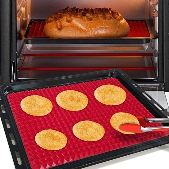 Pyramid Pan Silicone baking Tray Cooking Mat Non Stick Fat New Reducin Oven Q4M5