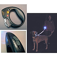 Safety Dog Leash Handle w/ Flashlight, Alarm & Warning Lights -  FreeShipping