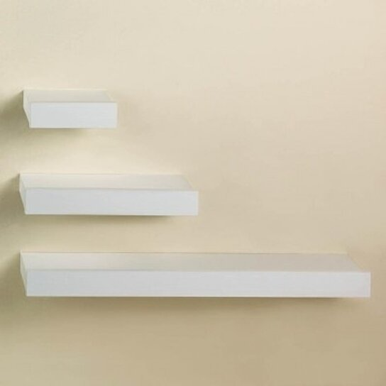 buy floating shelf trio white by verdugo gift company on. Black Bedroom Furniture Sets. Home Design Ideas