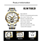 Automatic Mechanical Tourbillon Watch Steel Strap Men's Fashion Business Waterproof Multifunction Casual Hollow Watch
