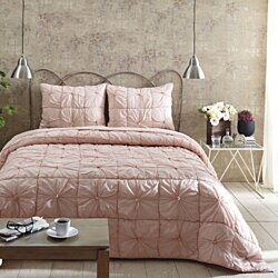 Farmhouse Bedding Camille Taupe Quilt Set
