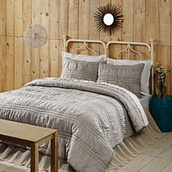 Farmhouse Bedding Natasha Warm Taupe Quilt Set