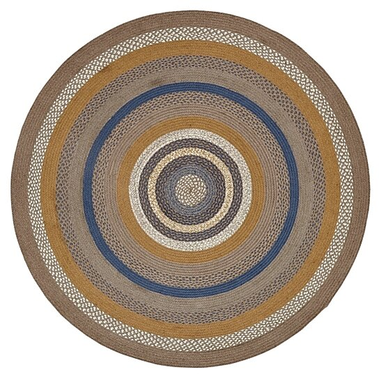 Rustic Lodge Rugs Riverstone Grey Round Jute Rug By Vhc Brands On Dot Bo