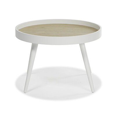Henson Round Accent Table White Finish