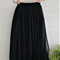 3 Layers Tulle Tutu Skirt Women Pleated Midi Skirt Elastic High Waist Underskirt