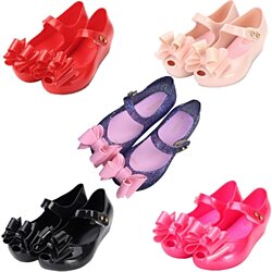 90eb4fc59 Mini Melissa Girls Shoes Jelly Ballerina Princess Kids Three Layers Bow  Sandals