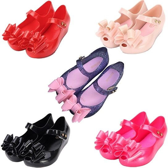 bdf0725c2a69 to cart 13 times in the last 24 hours. Mini Melissa Girls Shoes Jelly  Ballerina Princess Kids Three Layers Bow Sandals
