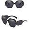 Oversized Square Luxury Sunglasses Gradient Lens Vintage