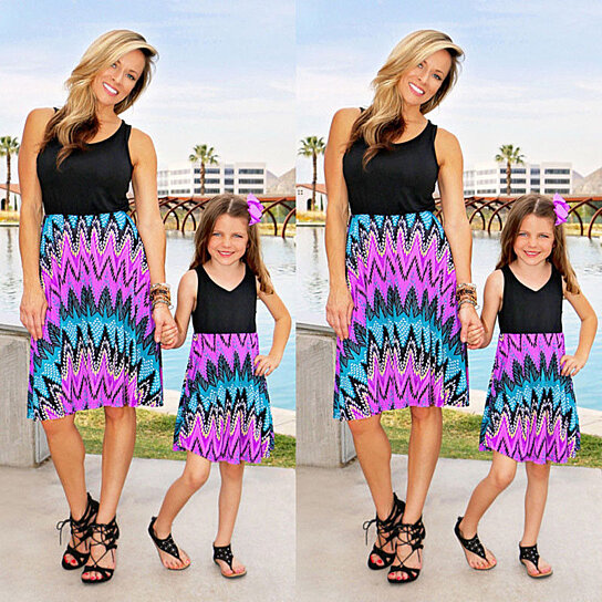 f349928508df Buy Womens Mother Daughter Matching Dresses Summer Girl Flower Dress  Clothes Outfits by Vigour Home on OpenSky