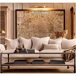 Huge historic 1705 PLAN DE PARIS CITY WALL MAP OLD ANTIQUE STYLE FINE art print
