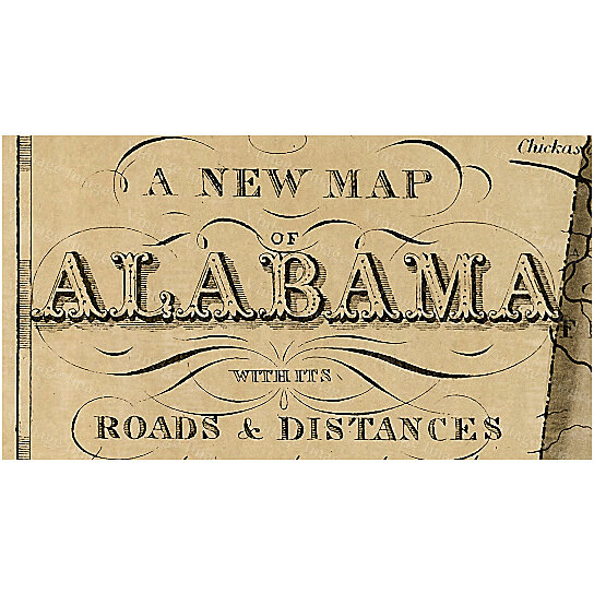 Buy Alabama Map Antique Map Of Alabama Antique Restoration