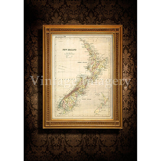 Buy Antique New Zealand Map 1881 Old Map Of New Zealand Vintage New Zealand Wall Map Home Decor
