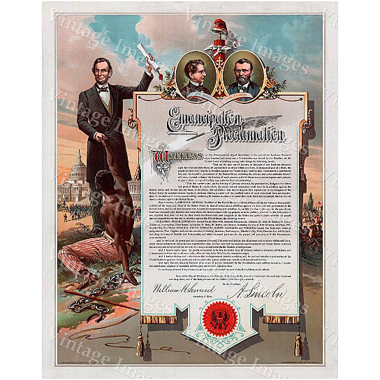 Wall Art Home Hardware : Buy color abraham lincoln emancipation proclamation early