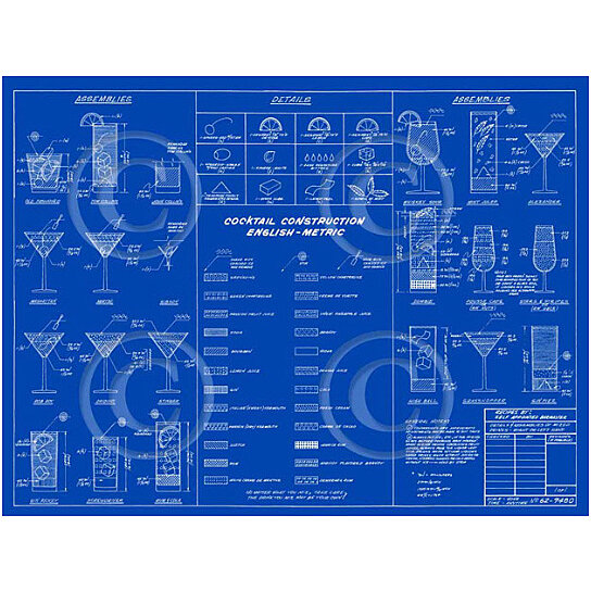 Buy dark blue martini cocktail construction recipe layout blueprint buy dark blue martini cocktail construction recipe layout blueprint style bar art drafting type fine art print poster by vintage imagery on opensky malvernweather Images