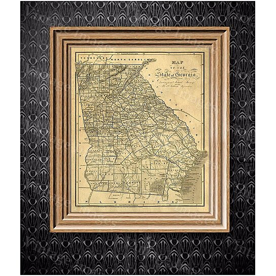 Buy Georgia map Antique map of Georgia Antique Restoration Hardware Style  Map of Georgia Large Old Georgia Wall Map Home Decor Office art by Vintage  Imagery. Buy Georgia map Antique map of Georgia Antique Restoration