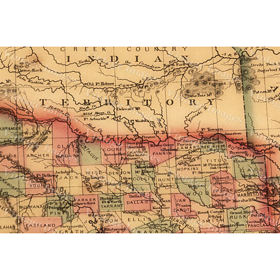 Buy Giant 1866 Texas OLD WEST Map Antique Restoration