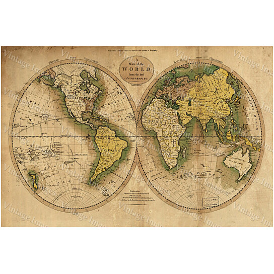 Buy giant historic map 1780 old antique world map restoration giant historic map 1780 old antique world map restoration hardware style atlas to guthries system of geography fine art print wall poster gumiabroncs Images