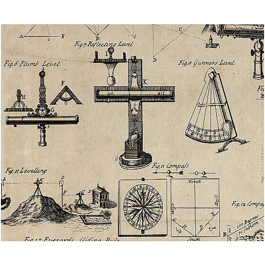 Wall Art Home Hardware : Buy historic surveyor surveying patent style navgating