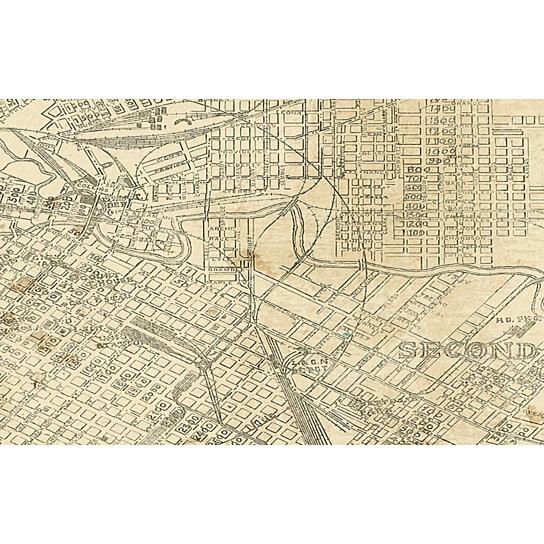 Buy HOUSTON Map TEXAS Old Map Of Houston Houston TX