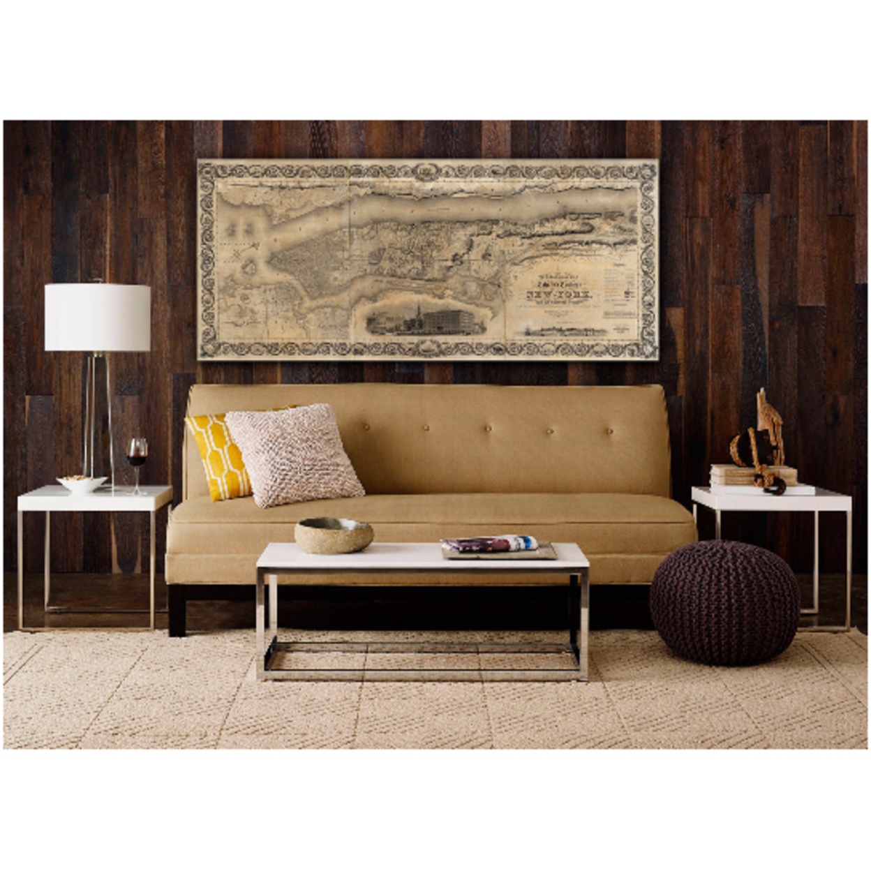 """Map of Manhattan (1836) Big Manhattan map giant Old Antique Restoration Hardware Style Map of New York City Large Manhattan Map NYC Map - 12\"""" x 30\"""" inches [$24.00] 56d2da43893d6ff4478b4d81"""