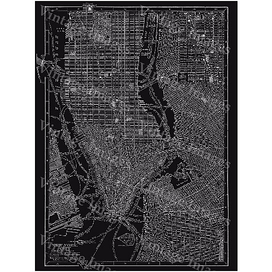 Old Map Of New York.Old Map Giant 1910 Black White New York City Street Map Antique Architectural Blueprint Style Wall Map Fine Art New York Map Print Poster