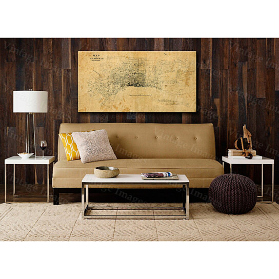 Buy Old Map of Nashville Tennessee 1860 restoration hardware style ...