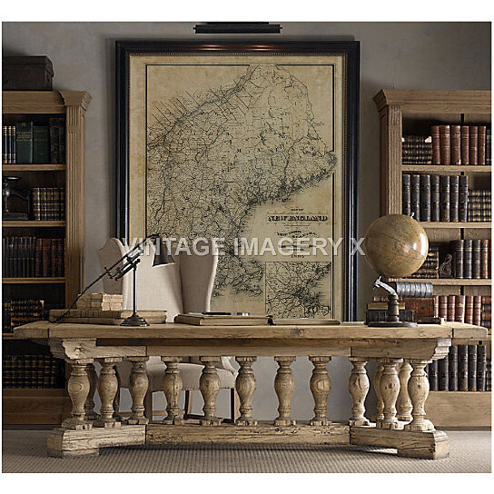 buy old map of new england 1885 vintage new england map