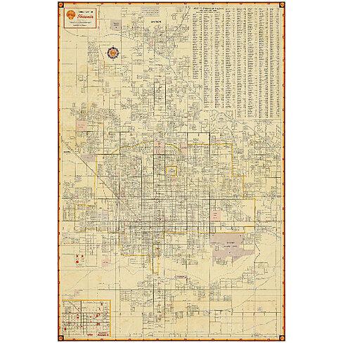 ... Discount Patio Furniture Phoenix Az : Buy Old Phoenix Map Vintage  Arizona Antique ...