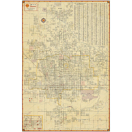 Buy Old Phoenix Map Vintage Phoenix Arizona Map Antique
