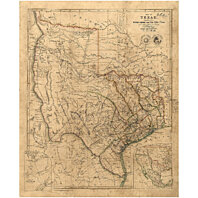 Buy Old Texas Map 1841 Vintage Texas Historical Map Antique