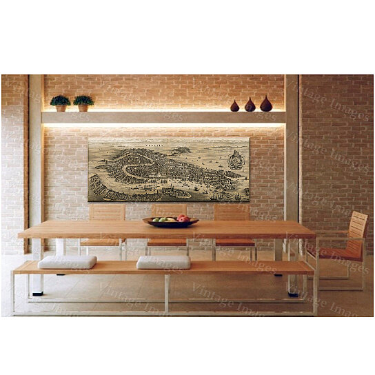 Buy Old Venice Map Antique 1641 Venice Map Restoration Hardware Style Old Map Of Venice Wall