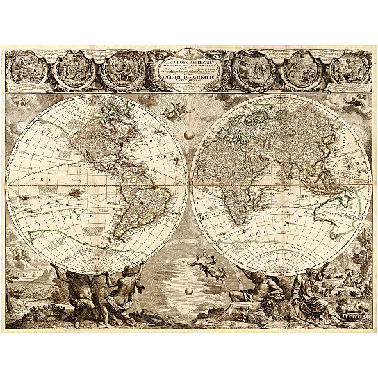 Buy old world map baptiste 1708 historic map antique restoration buy old world map baptiste 1708 historic map antique restoration hardware style world map jean baptiste nolin le globe terrestre wall map decor by vintage gumiabroncs Image collections