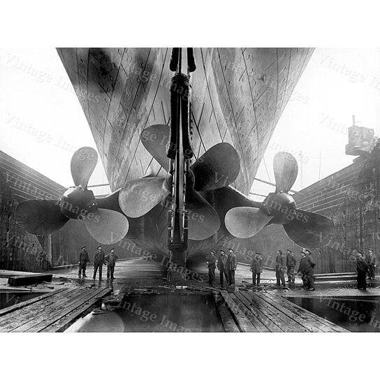 Buy Titanic Photo Rare 1911 Rms Titanic Propellers Ship