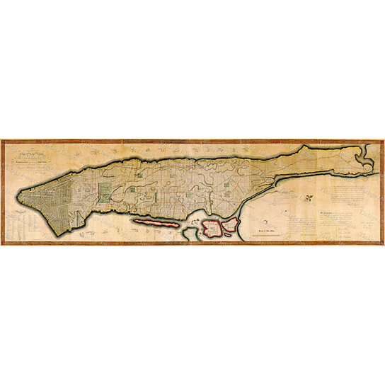 Buy Vintage 1807 New York City Map Old Antique Restoration