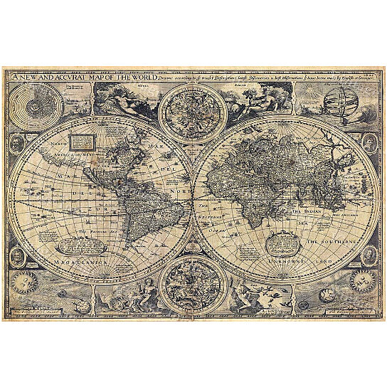 A New And Accvrat Map Of The World 1626.Buy World Map Historic Old World Map 1626 Old Antique Restoration
