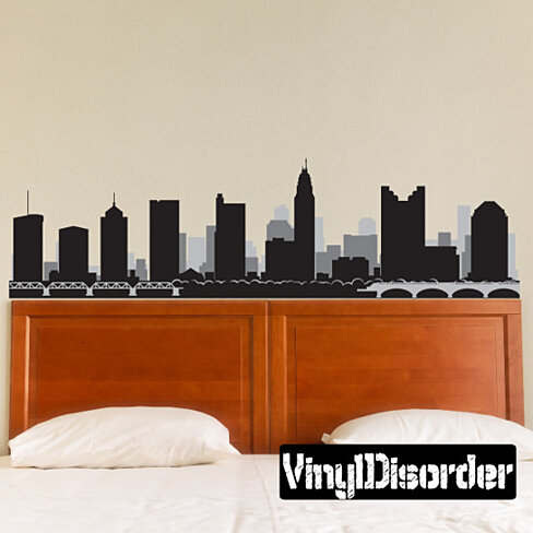 Columbus Ohio Skyline Vinyl Wall Decal or Car Sticker SS100EY