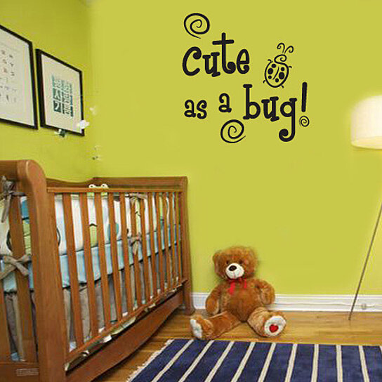 Buy Cute As A Bug Child Teen Vinyl Wall Decal Mural Quotes