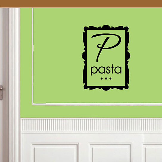 Kitchen Wall Border Decals: Buy Pasta Square Border Kitchen Labels Vinyl Wall Decal