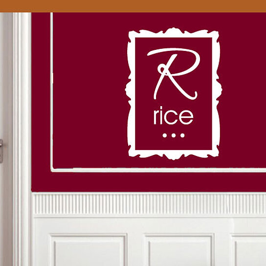Kitchen Wall Border Decals: Buy Rice Square Border Kitchen Labels Vinyl Wall Decal