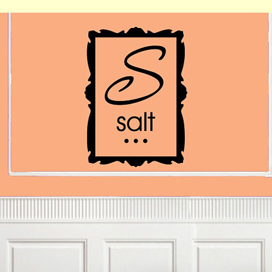 Kitchen Wall Border Decals: Buy Salt Square Border Kitchen Labels Vinyl Wall Decal