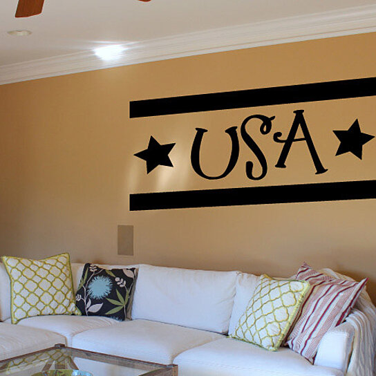 cheap home decor usa buy usa patriotic 4th of july vinyl wall decal 10541