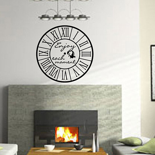 Buy wall clocks with text enjoy each moment clock faces for Clock wall mural