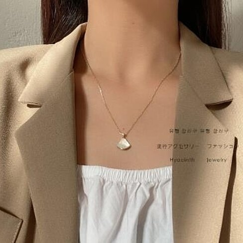 Shell Necklace female ins Xianqi clavicle chain