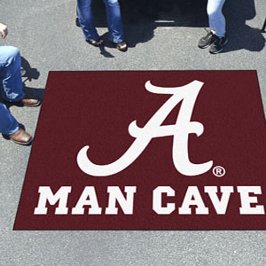 Man Cave Hair Products : Buy alabama man cave tailgater rug quot x by virventures