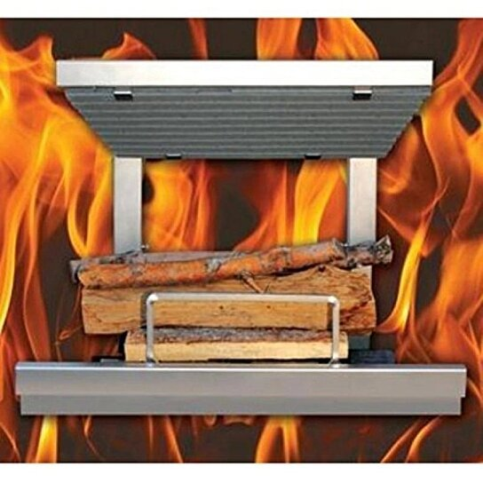 Buy Arth 39 S Flame Hybrid Clean Burn Wood Fireplace System Including Natural Gas Log Lighter By