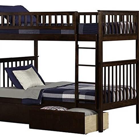 Buy Atlantic Furniture Woodland Bunk Bed With Ubd Antique