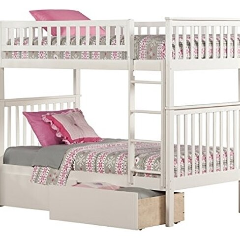 Buy Atlantic Furniture Woodland Bunk Bed With Ubd White