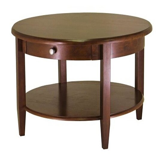 Buy Concord Round Coffee Table With Drawer And Shelf By Virventures On Opensky